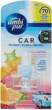 """Voňavky, Parfémy, kozmetika Náplň do osviežovača vzduchu do auta """"Tropické ovocie"""" - Ambi Pur Air Freshener Refill Tropical Fruits"""