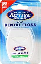 Voňavky, Parfémy, kozmetika Zubná niť s príchuťou mäty - Beauty Formulas Active Oral Care Dental Floss Mint Waxed 100m