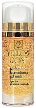 Voňavky, Parfémy, kozmetika Gélová maska na tvár so zlatom - Yellow Rose Golden Line Face Radiance Gel Mask