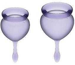 Voňavky, Parfémy, kozmetika Sada menštruačných kalíškov, fialová - Satisfyer Feel Good Menstrual Cups Lila