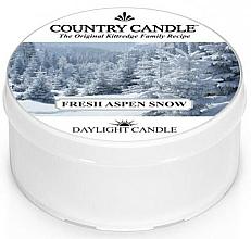 Voňavky, Parfémy, kozmetika Čajová sviečka - Country Candle Fresh Aspen Snow Daylight