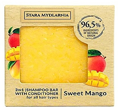 Voňavky, Parfémy, kozmetika Tuhý šampón a kondicionér Sladké mango - Stara Mydlarnia Sweet Mango 2in1 Shampoo Bar