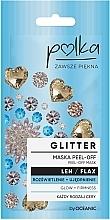 Voňavky, Parfémy, kozmetika Hydratačná a exfoliačná maska s ľanom - Polka Glitter Peel Off Mask Flax