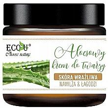 Voňavky, Parfémy, kozmetika Krém na tvár s aloe - Eco U Aloe Face Cream
