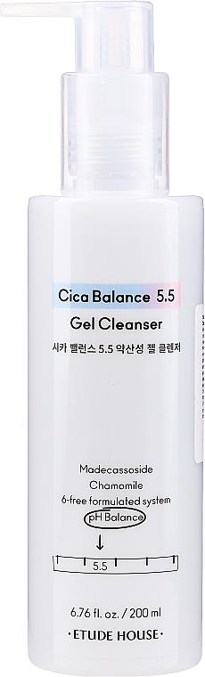 Čistiaci mierne kyselinový sprchový gél - Etude House Cica Balance 5.5 Gel Cleanse — Obrázky N1