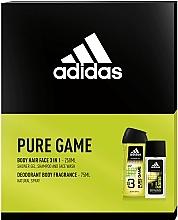 Voňavky, Parfémy, kozmetika Adidas Pure Game - Sada (edc/75ml + sh/gel/250ml)