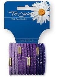 Gumy na vlasy 12ks, šerikové, 21312 - Top Choice — Obrázky N1