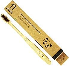 Voňavky, Parfémy, kozmetika Bambusová zubná kefka s mäkkými hnedými štetinami - Zuzii Soft Toothbrush