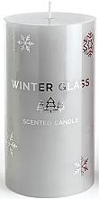 Voňavky, Parfémy, kozmetika Vonná sviečka, šedá, 7x8cm - Artman Winter Glass