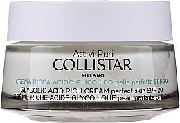 Voňavky, Parfémy, kozmetika Nasýtený krém s glykolovou kyselinou pre dokonalú pokožku tváre - Collistar Pure Actives Glycolic Acid Rich Cream SPF20