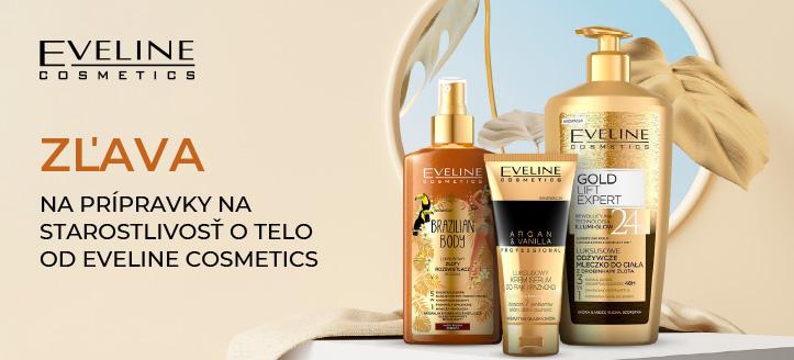 Zľava na prípravky na starostlivosť o telo od Eveline Cosmetics. Ceny na stránke sú uvedené so zľavou