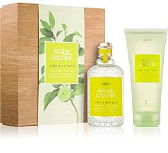 Voňavky, Parfémy, kozmetika Maurer & Wirtz 4711 Aqua Colognia Lime & Nutmeg - Sada (col 170ml +sh/gel/200ml)