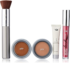 Voňavky, Parfémy, kozmetika Sada - Pur Minerals Best Sellers Starter Kit Blush Medium (primer/10ml+found/4.3g+bronzer/3.4g+mascara/5g+brush)