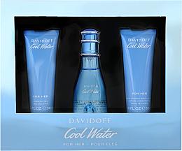 Voňavky, Parfémy, kozmetika Davidoff Cool Water Woman - Sada (edt/50ml + b/lot/50ml + sh/gel/50ml)