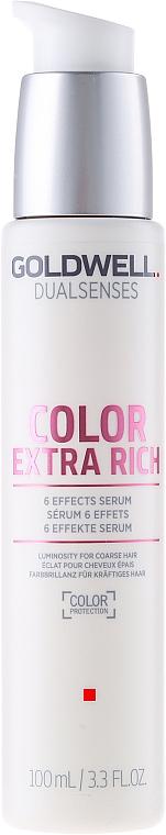Intenzívne sérum na lesklé vlasy - Goldwell Dualsenses Color Extra Rich 6 Effects Serum