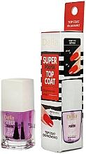 Voňavky, Parfémy, kozmetika Fixátor laku s mega-lesklým efektom - Delia Super Gloss Top Coat