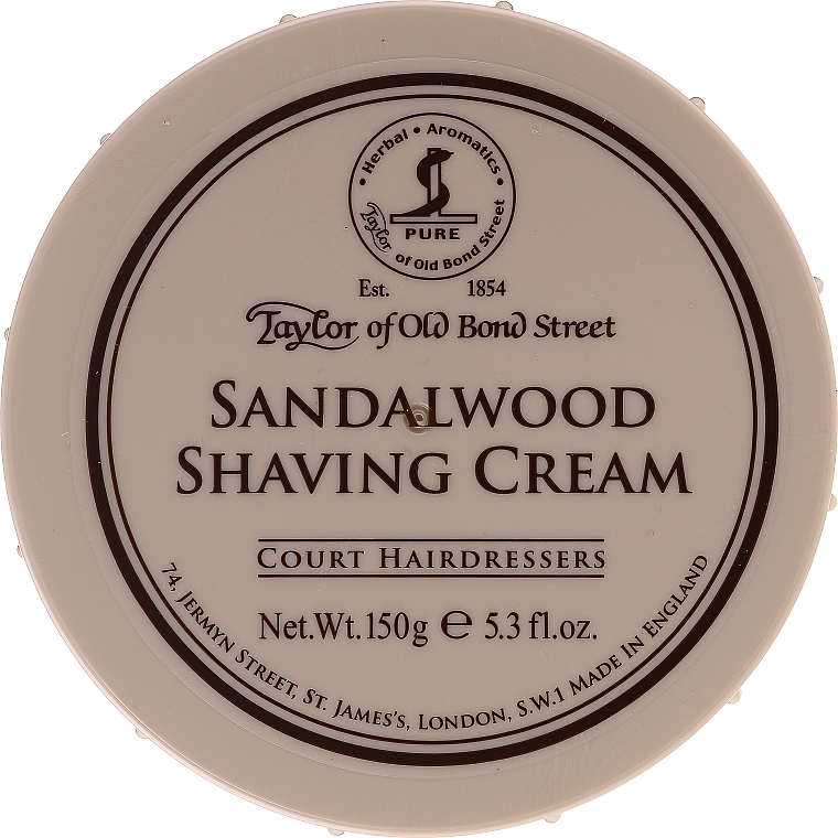 "Krém na holenie ""Santalové drevo"" - Taylor of Old Bond Street Sandalwood Shaving Cream Bowl"