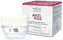 Voňavky, Parfémy, kozmetika Krém-sérum pre tvár a pokožku okolo očí - Farmona Anti-AGE Glycation Fibro-Rebuilding Serum In Cream For Face & Under Eye