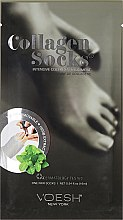 Voňavky, Parfémy, kozmetika Starostlivosť o nohy, kolagénová - Voesh Socks Deluxe Pedicure Mask Enriched With Phyto Collagen & Peppermint