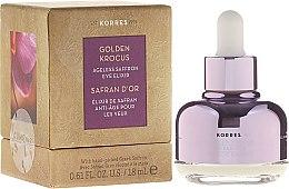 Voňavky, Parfémy, kozmetika Elixír pre oblasť okolo očí - Korres Golden Krocus Ageless Eye Elixir
