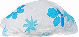 Voňavky, Parfémy, kozmetika Sprchová čiapka, 9298, biela s modrými kvetmi - Donegal Shower Cap
