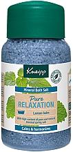 Voňavky, Parfémy, kozmetika Soľ do kúpeľa Celková relaxácia - Kneipp Mineral Bath Salt Pure Relaxation Lemon Balm