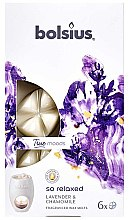 """Voňavky, Parfémy, kozmetika Vonný vosk """"Levanduľa a harmanček"""" - Bolsius True Moods So Relaxed Lavender & Chamomile"""