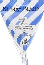 Voňavky, Parfémy, kozmetika Hydratačná nočná maska s kyselinou hyalurónovou   - May Island 7 Days Secret Deep Water Sleeping Mask Pack