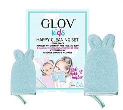 Voňavky, Parfémy, kozmetika Sada - Glov Kids Happy Cleaning Set Blue (big/glove/1pcs + small/glove/1pcs)