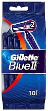 Voňavky, Parfémy, kozmetika Sada jednorazových holiacich strojčekov, 10ks - Gillette Blue II Disposable Men's 2-Blade Travel Razors with Razor Blades