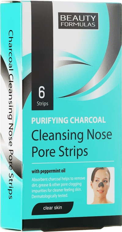 Prúžky na hlboké čistenie pokožky nosa - Beauty Formulas Purifying Charcoal Deep Cleansing Nose Pore
