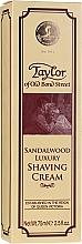 """Voňavky, Parfémy, kozmetika Krém na holenie """"Santalové drevo"""" - Taylor Of Old Bond Street Sandalwood Luxury Shaving Cream (v tube)"""