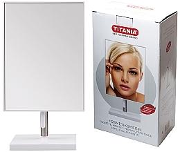 Voňavky, Parfémy, kozmetika Kozmetické zrkadlo v ráme, 16x30 cm, na kovovom stojane - Titania