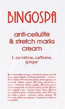 Voňavky, Parfémy, kozmetika Krém proti celulitíde a strie s L-karnitínom, kofeínom a zázvorom - BingoSpa Cream For Cellulite