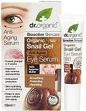 Voňavky, Parfémy, kozmetika Gélové sérum so slimákom proti starnutiu na pokožku okolo očí - Dr. Organic Bioactive Skincare Anti-Aging Snail Gel Eye Serum