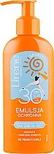 Voňavky, Parfémy, kozmetika Opaľovacia emulzia - Lirene Sun Care Sporty Moisturizing Emulsion SPF30 (s dávkovačom)