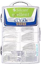 Voňavky, Parfémy, kozmetika Tipy na nechty, k/k - Silcare Tipsy Exellent Clear