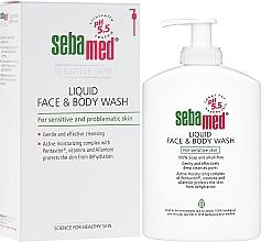 Voňavky, Parfémy, kozmetika Čistiaci krém na tvár a telo s dávkovačom - Sebamed Liquid Face and Body Wash