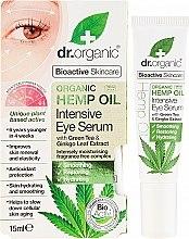 """Voňavky, Parfémy, kozmetika Intenzívne sérum pre pleť okolo očí, """"Konopný olej"""" - Dr. Organic Bioactive Skincare Hemp Oil Intensive Eye Serum"""