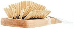 Voňavky, Parfémy, kozmetika Masážna kefa drevená 5 radov, oválna, malá - Titania