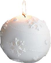 Voňavky, Parfémy, kozmetika Dekoratívna sviečka, biela guľa, 10 cm - Artman Snowflake Application