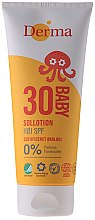 Voňavky, Parfémy, kozmetika Detský opaľovací krém - Derma Sun Baby Sollotion SPF30