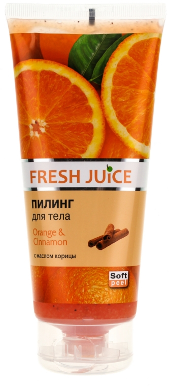 "Telový peeling ""Pomaranč a škorica"" - Fresh Juice Orange & Cinnamon"