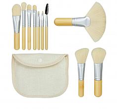 """Voňavky, Parfémy, kozmetika Sada štetcov na makeup """"Bamboo White"""" 10ks + taštička - Tools For Beauty"""