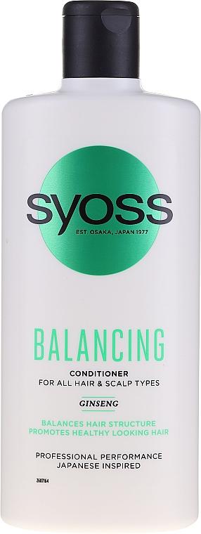 Balzam so ženšenom pre všetky typy vlasov a pokožky hlavy - Syoss Balancing Ginseng Conditioner