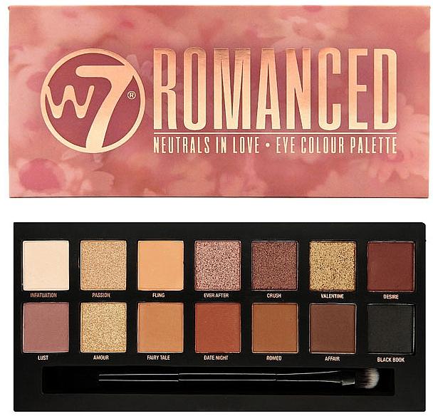 Paleta očných tieňov - W7 Romanced Eyeshadow Palette