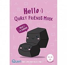 Voňavky, Parfémy, kozmetika Pleťová maska na báze dreveného uhlia - Quret Hello Friends Mask Charcoal
