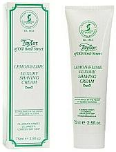 """Voňavky, Parfémy, kozmetika Krém na holenie """"Citrón a limetka"""" - Taylor of Old Bond Street Lemon&Lime Luxury Shaving Cream (v tube)"""