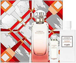 Voňavky, Parfémy, kozmetika Hermes Un Jardin Sur La Lagune - Sada (edt/100ml + edt/7.5ml+ b/lot/80ml)