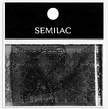 Voňavky, Parfémy, kozmetika Ozdoba na manikúru - Semilac 06 Transfer Nagelfolie Semilac Black Lace